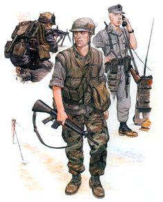 • Machine gunner, US Marines; Hue City, Tet 1968  • Rifleman, 1st Bn., 7th US Marines; MR 1, 1969  • Lance-Corporal RTO, US 3rd Marine Div., 1965