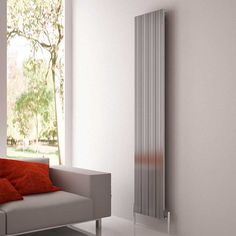 Carisa Monza Oxidised Aluminium Vertical Designer Radiator x Vertical Radiators, Designer Radiator, Aluminum Radiator, Portsmouth, Tall Cabinet Storage, Furniture, Home Decor, Products
