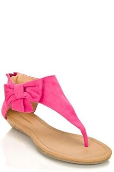EVERY GIRLS LOVE THAT BOW, THONG SANDAL