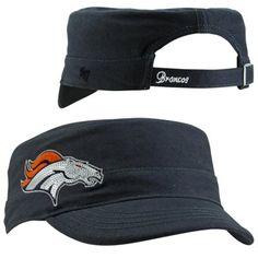 '47 Brand Denver Broncos Ladies Sparkle Fidel Adjustable Hat - Navy Blue