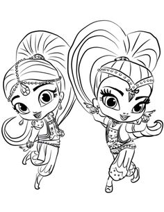 Shimmer And Shine Coloring Page