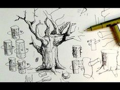 Pen & Ink Drawing Tutorials | Beginners introduction to crosshatching & basic strokes - YouTube