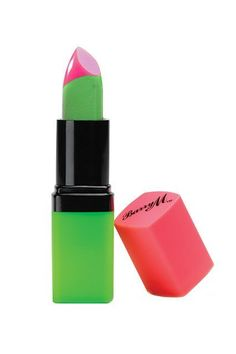 London-based brand Barry M has come out with a green lipstick that offers a similarly transformative pinky hue with a touch more shine.