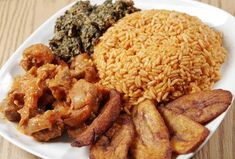 Jollof Rice with Sweet Plantain