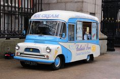 Grat blue vintage van business. Ice cream again