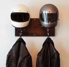 Handmade motorcycle and coat hanger // I need to build this or buy it.   https://www.etsy.com/shop/edwardrichie