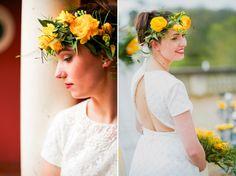 Elegant, Vibrant Yellow Wedding Inspiration from Dordogne in France