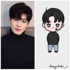 CHA EUNWOO - ASTRO . . ♥ BEĞEN~YORUM YAP~KAYDET ♥ . . #oppadoll . #astro#myungjun#rocky#moonbin#eunwoo#jinjin#sanha#mj… Korean K Pop, Korean Art, Kpop Drawings, Easy Drawings, Chibi, Goblin Kdrama, Cha Eunwoo Astro, Astro Wallpaper, Simple Cartoon