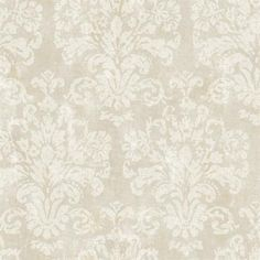 Taupe Evelyn Damask Wallpaper  POWDER ROOM