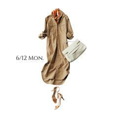 今年のサファリワンピはちょっぴり都会的に!キレイめに着こなしてみるMarisol ONLINE|女っぷり上々!40代をもっとキレイに。