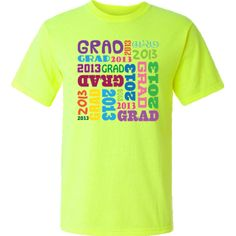 2013 graduation safety t shirts gift has colorful design for the high school graduate