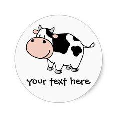 A cute cartoon cow!