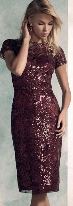 David Meister Sequin Party Dress   women fashion outfit clothing style apparel @roressclothes closet ideas