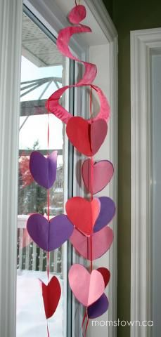 Valentine 3D Mobile | momstown arts and crafts