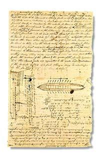 Clark Field Notes - Keelboat (from the Lewis and Clark journals