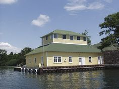 boathouse on the St. Lawrence River