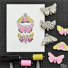 Speckled Moths - Original Print by Andrea Lauren via Andrea Lauren. Click on the image to see more!