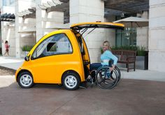 An Electric Car Designed Especially for People in Wheelchairs / Jenny Xie + The Atlantic Cities | #socialcities #socialdesign