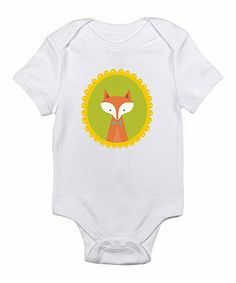 Take a look at this White Fox Bodysuit by Love you a Latte on #zulily today!
