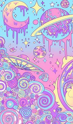 wallpaper, planet, and pink Bild