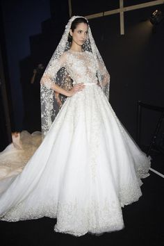 Ralph & Russo Backstage: haute couture bridal gown. #wedding dress