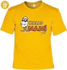 T-Shirt Mutter Mama - Ü-Ei - Hallo Mami - Geschenk Idee Humor zum Muttertag oder Geburtstag - gelb, Größe:XL (*Partner-Link)