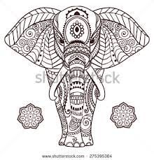 Image Result For Elephant Mandala Coloring Pages