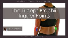 The Triceps Brachii Trigger Points