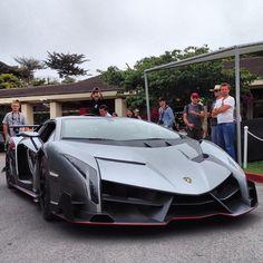 Our first real look at the Lamborghini Veneno! #superstreet #meguiars #monterey #pebblebeach #lamborghini #veneno