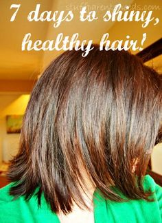 I transformed my hair from dull to shiny and healthy in 7 days using a drugstore product! From @Stuff Parents Need
