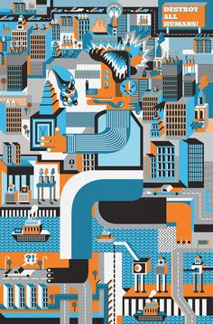 Various Illustrations by Karol Banach, via Behance