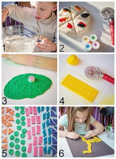 Diy salt dough mosaic tiles by life lesson plans little artists школа, идеи Easy Art For Kids, Crafts For Kids To Make, Kids Crafts, Mosaics For Kids, Teen Wall Art, Salt Dough Ornaments, Preschool Art, Recycled Art, Diy Christmas Ornaments