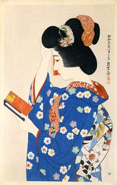 Ito Shinsui (1898-1972) The First Collection of Modern Beauties: Hand Mirror, woodblock print, 1931.