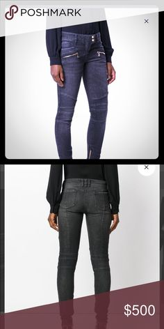 9b9bc6b4 Balmain biker jeans worn once for women. All sizes Perfect condition Make  offer.