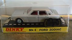 """""""dinky toys"""", ford #zodiac mk 4 saloon, silver #grey, #model 164, case, base, 1:4,  View more on the LINK: http://www.zeppy.io/product/gb/2/302150416707/"""