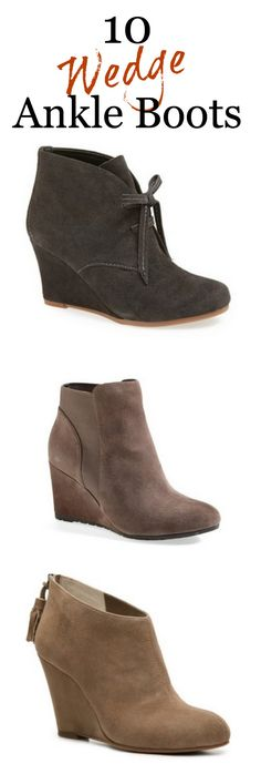 Wedge Ankle Boots #Fall #shoes #fashion