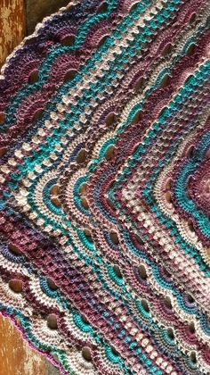 Ravelry: Virus Meets Granny Shawl by Jinty Lyons