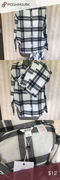 Black and white flannel pajamas. NWT flannel pajamas. Monki brand black and white buffalo plaid. monki Intimates & Sleepwear Pajamas