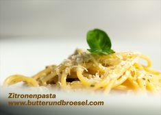 Ein einfaches und schnelles Pastagericht mit einem Hauch von Sommer im eisigkalten und grauen Winter. Rezept am Blog. #butterundbroesel Spaghetti, Winter, Ethnic Recipes, Blog, Lemon, Easy Meals, Summer, Food Food, Recipies