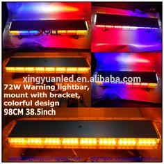 Led strobe light bar with siren horn speaker used police cars 12v 24v 72w truck warning strobe light bar 98cm flashing led light bar 47inch waterproof aloadofball Images