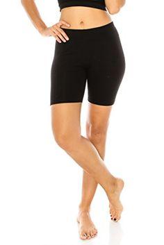 The Classic Women s Stretch Cotton Jersey Bike Yoga Workout Shorts S to 3XL  Plus Pantalones Cortos f894b8dba