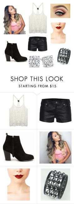 """""""Untitled #74"""" by martinezjorge ❤ liked on Polyvore featuring Belleza, Wet Seal, True Religion, Nly Shoes y Jeffree Star"""