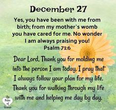 December 27~~Psalm 71:6