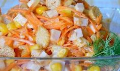 8 great ideas for delicious salads with corn. If you like corn, you are sure to find the right recipe for a delicious salad, which you will especially appreciate at these days for lunch or dinner after sweet Christmas treats. Easy Healthy Recipes, Easy Meals, Mayonnaise, Vegetable Salad, Christmas Treats, Crockpot, Shrimp, Food And Drink, Lunch