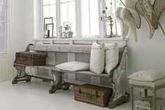 recycled church pew