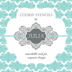 Julia M Usher, new cookie stencil line, Prettier Plaques cookie stencils