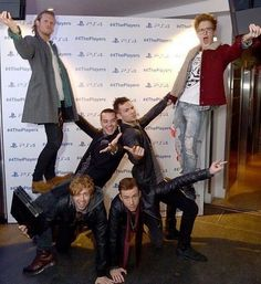 New cheerleader pyramid formation! I Have A Crush, Having A Crush, Cheerleading Pyramids, Michigan Colleges, Tom Fletcher, Dougie Poynter, Kaiser Chiefs, Music Stuff, Music Music