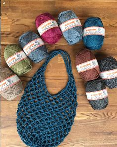 Rustic Market Bag pattern by Camilla N. Diy Crochet And Knitting, Cotton Crochet, Love Crochet, Crochet Stitches, Crochet Patterns, Crochet Beach Bags, Crochet Market Bag, Crochet Handbags, Crochet Purses
