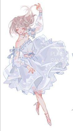 Manga Kawaii, Chica Anime Manga, Anime Chibi, Manga Girl, Anime Art Girl, Anime Angel Girl, Anime Girls, Pretty Art, Cute Art