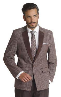 Mens Blazer Suit 3 Piece Black White Reversible Vested Men Suit EJ